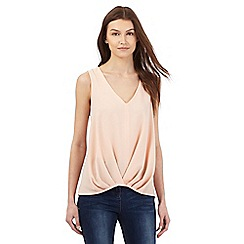 Red Herring - Light pink sleeveless pleated tuck top