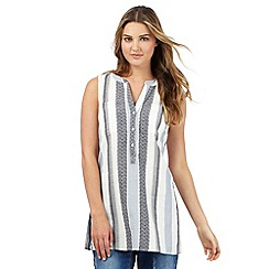Red Herring - Blue striped woven sleeveless top