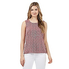 Red Herring - Multi-coloured geometric print shell top