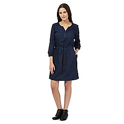 Red Herring - Dark blue chambray shirt dress
