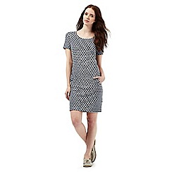 Red Herring - Navy jacquard heart dress
