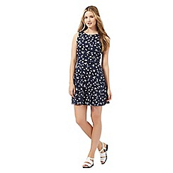 Red Herring - Navy bird print skater dress