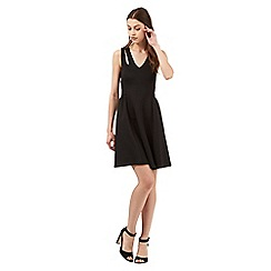 Red Herring - Black cut-out scuba dress