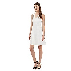 Red Herring - Ivory cut-out scuba dress