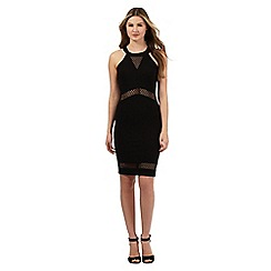 Red Herring - Black textured bodycon dress