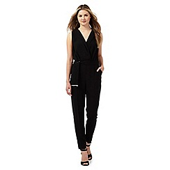 Red Herring - Black self tie jumpsuit