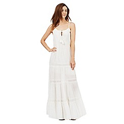 Red Herring - White lace tassel maxi dress