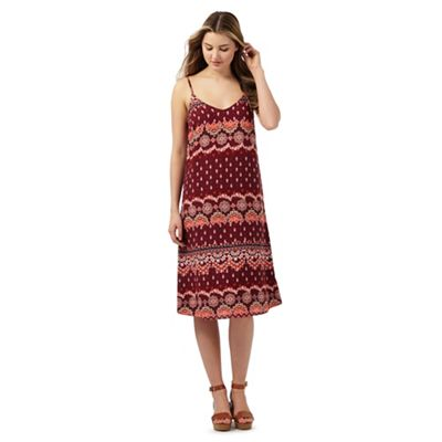 Red Herring Dark red printed dress - . -
