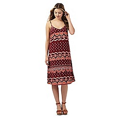 Red Herring - Dark red printed dress