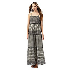 Red Herring - Grey geometric star print maxi dress