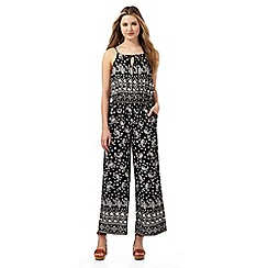 Red Herring - Black and off-white paisley print jumpsuit