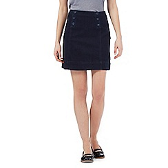 Red Herring - Navy A-line denim skirt