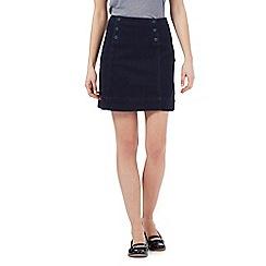 Red Herring - Navy A-line denim skirt