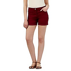 Red Herring - Dark red denim shorts