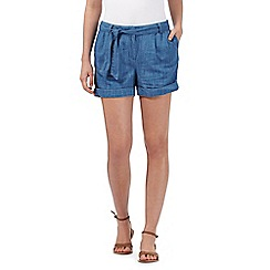 Red Herring - Blue chambray belted shorts