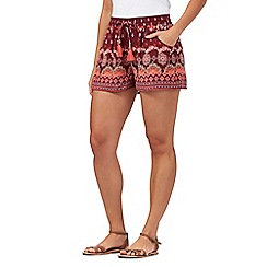 Red Herring - Red floral print shorts