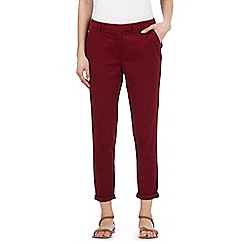 Red Herring - Dark red ankle grazer chinos