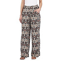 Red Herring - Multi-coloured floral print palazzo trousers