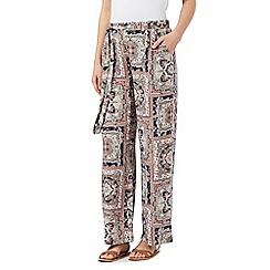 Red Herring - Multicoloured patchwork wide leg trousers