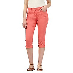 Red Herring - Mid rose 'Lulu' cropped skinny jeans