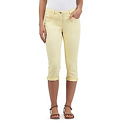 Red Herring - Light yellow cropped jeans