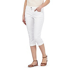 Red Herring - White 'Lulu' cropped skinny jeans
