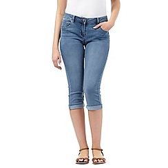 Red Herring - Mid wash 'Lulu' cropped skinny jeans