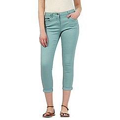 Red Herring - Light turquoise 'Holly' ankle grazer jeans