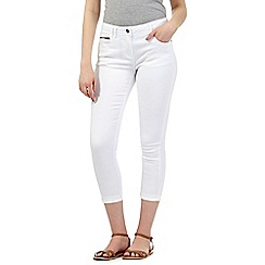 Red Herring - White 'Holly' ankle grazer jeans
