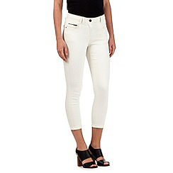 Red Herring - Cream 'Holly' ankle grazer jeans