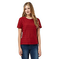 Red Herring - Red textured rope t-shirt