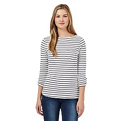 Red Herring - Navy striped pocket top