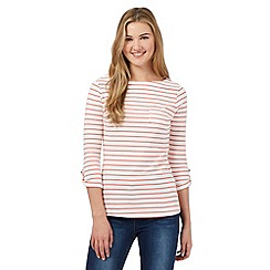 Red Herring - Red striped pocket top
