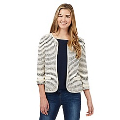 Red Herring - Cream textured stripe cardigan
