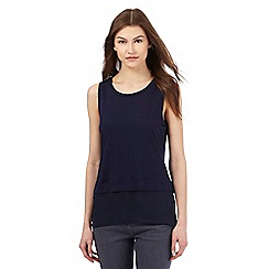 Red Herring - Navy 2-in-1 jersey vest top