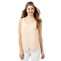 Red Herring - Light pink chiffon overlay top
