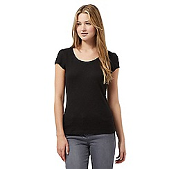 Red Herring - Black scoop neck t-shirt