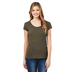 Red Herring - Khaki scoop neck t-shirt
