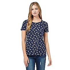 Red Herring - Navy dragonfly pocket t-shirt