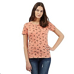 Red Herring - Orange hummingbird print t-shirt
