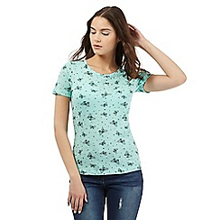 Red Herring - Pale green butterfly print t-shirt