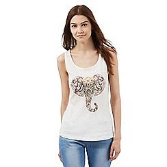 Red Herring - Ivory elephant print vest
