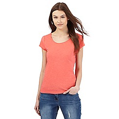 Red Herring - Coral scoop neck t-shirt