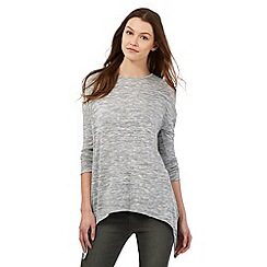 Red Herring - Grey space dye hanky hem jumper