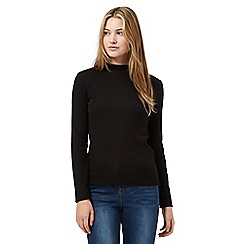 Red Herring - Black ribbed turtle neck top