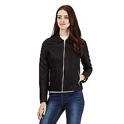 Red Herring - Black leatherette jacket