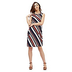 Red Herring - Multi-coloured striped cut-out shift dress