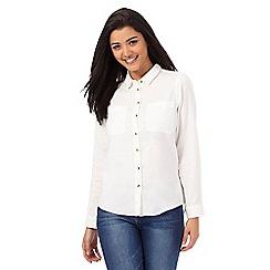 Red Herring - White utility shirt