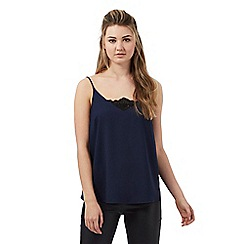 Red Herring - Navy lace trim cami