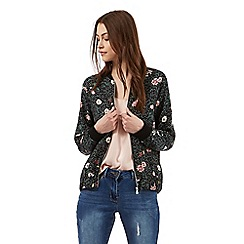 Red Herring - Multi-coloured floral print bomber jacket